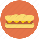 bread, fast, food, meal, sandwich icon