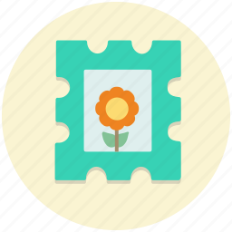label, mark, post, postage, seal, stamp icon