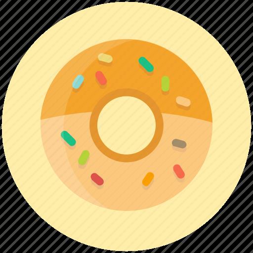 bakery, dessert, donut, doughnut, sprinkles, sweet icon
