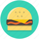 burger, cheeseburger, fast, food, hamburger icon