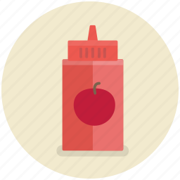 bottle, food, ketchup, sauce, tomato icon