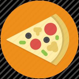 fast, food, italian, junk, pizza, restaurant, slice icon