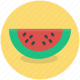 food, fruit, healthy, melon, piece, watermelon icon
