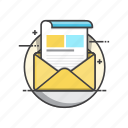 email, envelope, inbox, message, newsletter icon