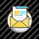 newsletter, email, envelope, inbox, message