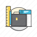 business, document, office, portfolio, suitcase icon