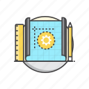 design, development, prototyping, tool icon