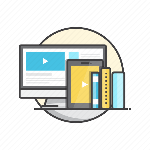 education, internet, learn, learning, online, tutorials icon