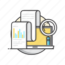 analysis, business, diagram, report, statistics icon