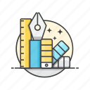 creative, design, graphic, tools icon
