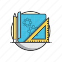 construction, developing, engineering, project icon
