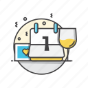 calendar, date, events, glass, shedule icon