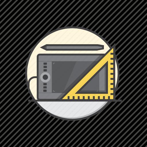digital, drawing, graphic, illustration, pen, tool icon