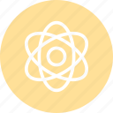 atom, atom icon, nuclear, physics, science icon