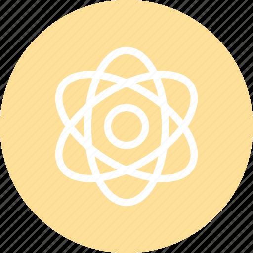atom, atom icon, nuclear, physics, science icon