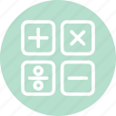 calculator, calculator sign, education, math, mathematics icon