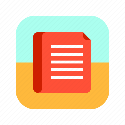 app, content, document, file, mobile, text icon