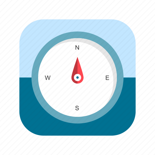 app, compass, direction, location, mobile icon