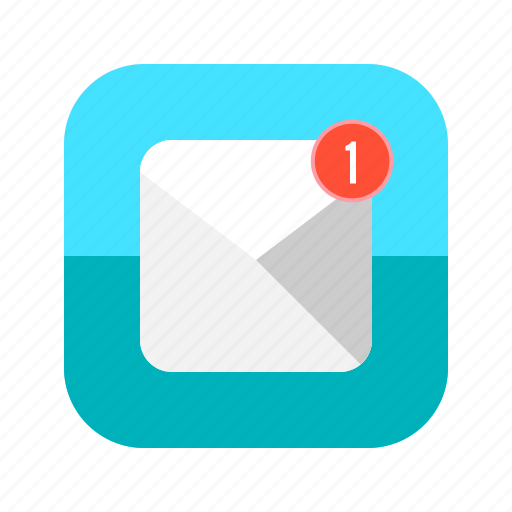 app, email, letter, mail, message, mobile, notification icon