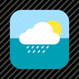 app, application, climate, heat, mobile, rain, weather icon