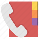 book, call, communication, education, phone, telephone icon