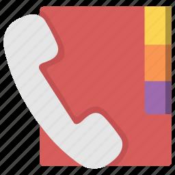book, call, communication, education, phone, telephone icon