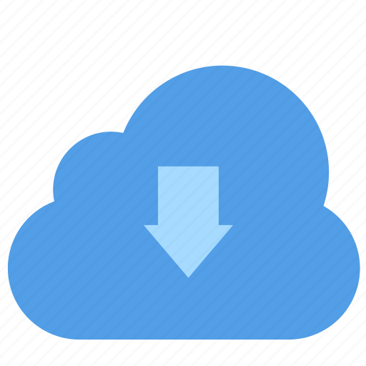 cloud, cloudy, computing, down, download, forecast, rain icon