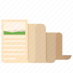 business, documents, fold, office, paper, print, write icon