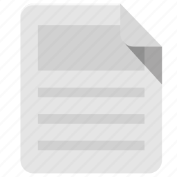 documents, page, paper, sheet, text icon
