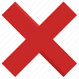 cancel, cross, delete, false, remove, wrong icon