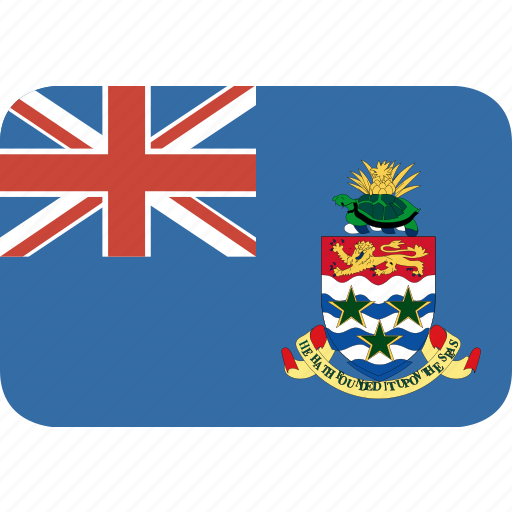cayman, islands, rectangle, round icon