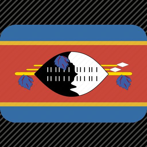 rectangle, round, swaziland icon