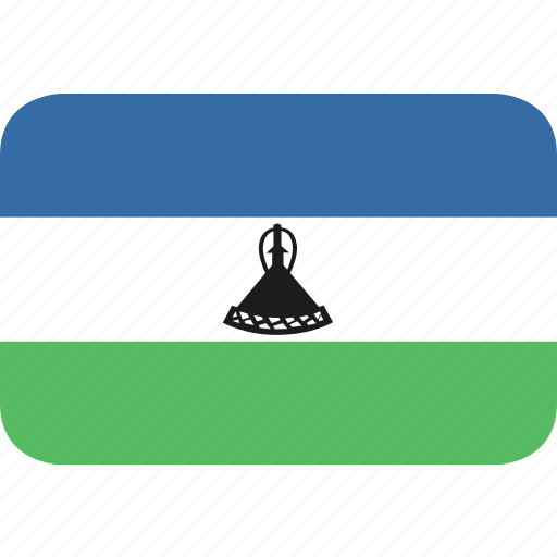 lesotho, rectangle, round icon