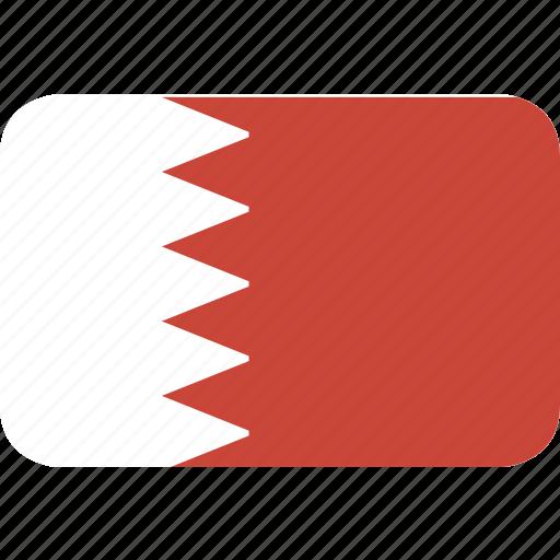 bahrain, rectangle, round icon