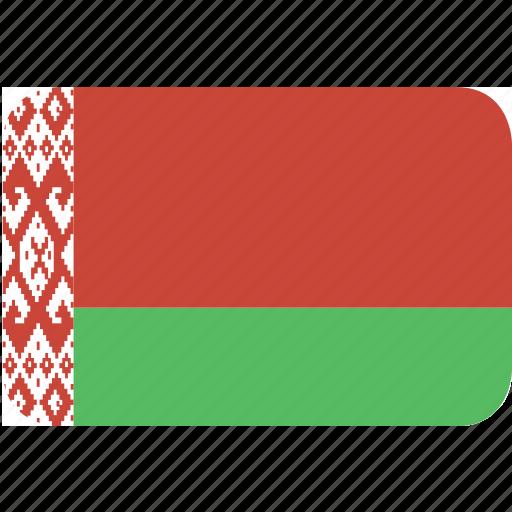 belarus, rectangle, round icon