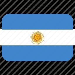 argentina, rectangle, round icon