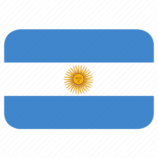 argentina, rectangle, round icon
