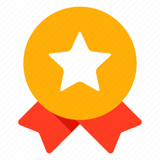medal, reward, star icon