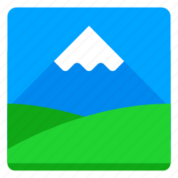 canvas, field, image, mountain, nature, picture icon