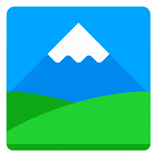 Canvas, field, image, mountain, nature, picture icon - Download on Iconfinder