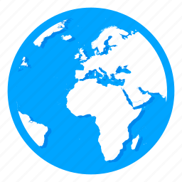 earth, globe, internet, map, planet, world icon