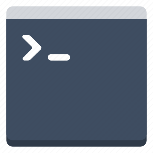 command, console, frame, terminal, window icon
