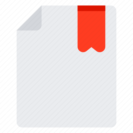 bookmark, document, file, page icon