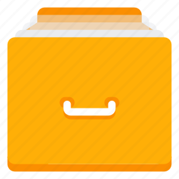 archive, catalog, documents, files, library icon
