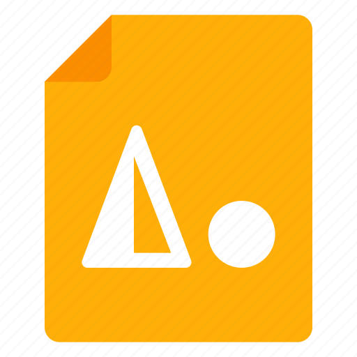 document, figure, file, image, slide icon