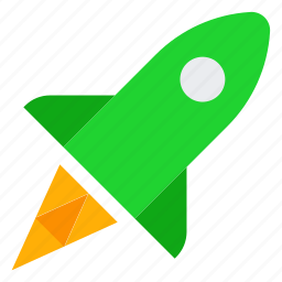 fly, project, reactive, rocket, startup icon