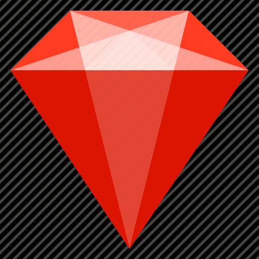 brilliant, jewelry, mineral, ruby icon