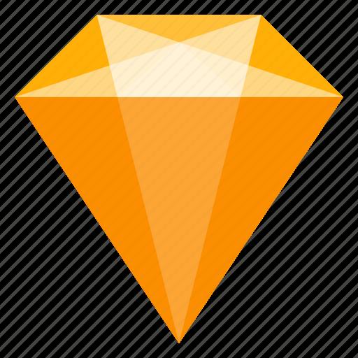 amber, brilliant, jewelry, mineral, sketch icon