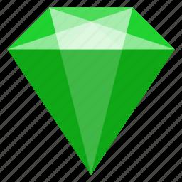 brilliant, emerald, jewelry, mineral icon