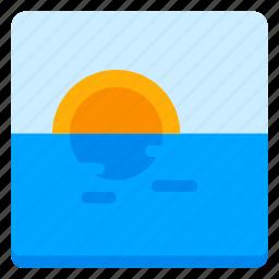 canvas, image, nature, picture, sea, shine, sun icon